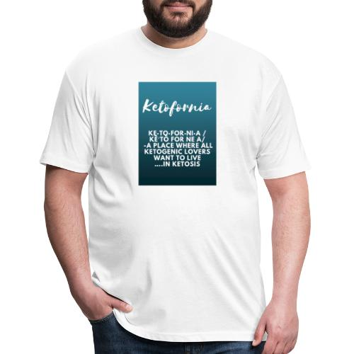 Ketofornia - Fitted Cotton/Poly T-Shirt by Next Level
