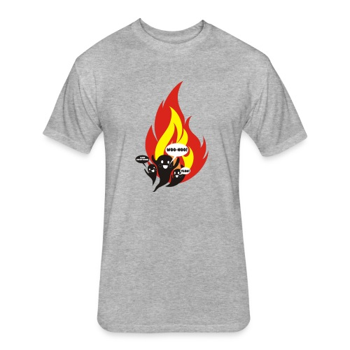 Funny arson ghosts burn everything Halloween - Fitted Cotton/Poly T-Shirt by Next Level
