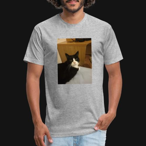 Gamer Cat 1 - Fitted Cotton/Poly T-Shirt by Next Level