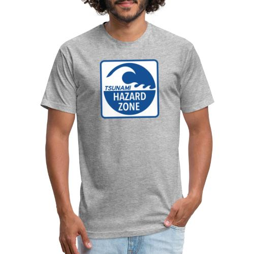 Tsunami Hazard Zone - Fitted Cotton/Poly T-Shirt by Next Level
