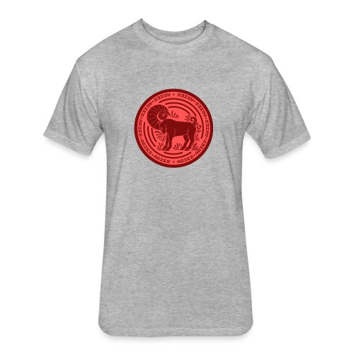 Aries Zodiac Badge 01 - Fitted Cotton/Poly T-Shirt by Next Level