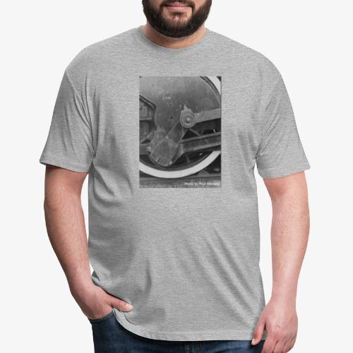 Steam Train Wheel - Fitted Cotton/Poly T-Shirt by Next Level
