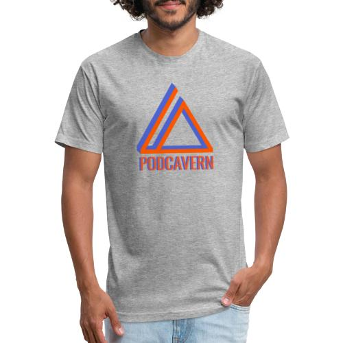 PodCavern Logo - Fitted Cotton/Poly T-Shirt by Next Level