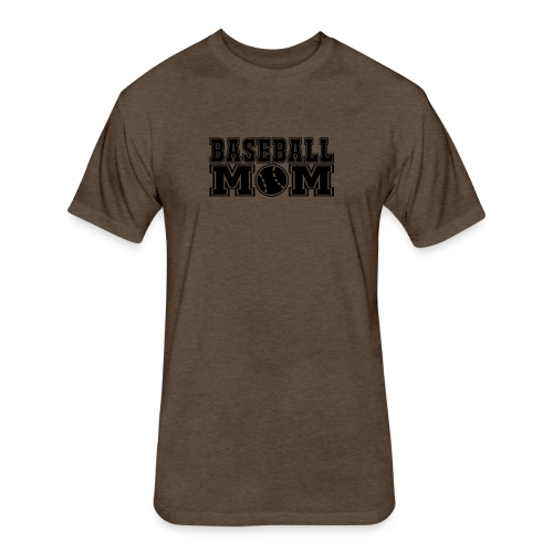 Baseball Mom - Fitted Cotton/Poly T-Shirt by Next Level