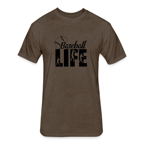 Baseball life - Fitted Cotton/Poly T-Shirt by Next Level