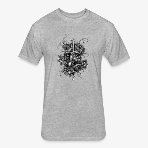 Dagger And Snake - Fitted Cotton/Poly T-Shirt by Next Level