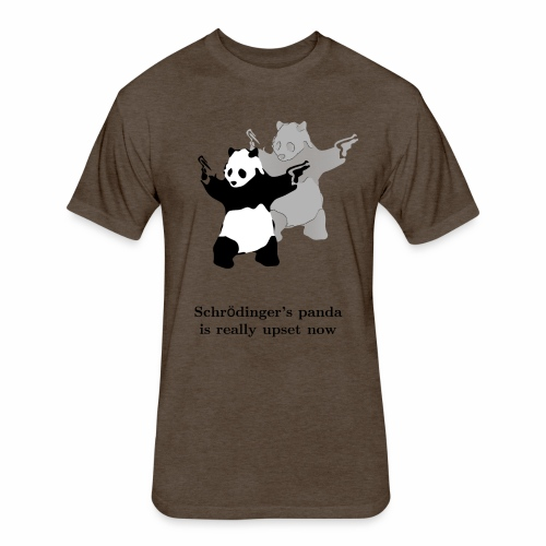 Schrödinger's panda is really upset now - Fitted Cotton/Poly T-Shirt by Next Level