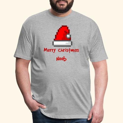 Gamer Merry Christmas Noob Santa Hate - Fitted Cotton/Poly T-Shirt by Next Level