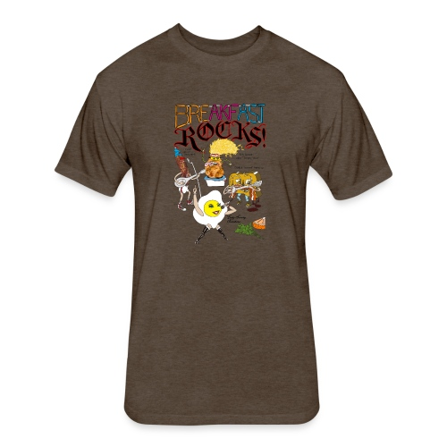 Breakfast Rocks! - Fitted Cotton/Poly T-Shirt by Next Level