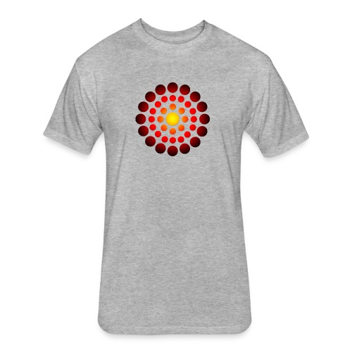 campfire symbol - Fitted Cotton/Poly T-Shirt by Next Level