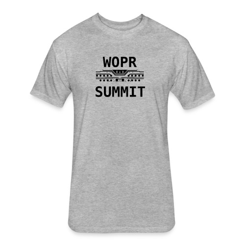 WOPR 0x0 Black Text - Fitted Cotton/Poly T-Shirt by Next Level