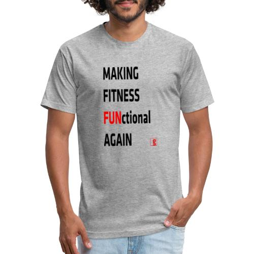 goality MFF tshirt black red - Fitted Cotton/Poly T-Shirt by Next Level