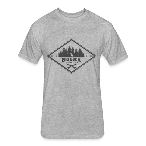 Hipster Buck - Fitted Cotton/Poly T-Shirt by Next Level