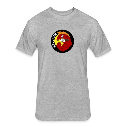 Hellfish - Flying Hellfish - Fitted Cotton/Poly T-Shirt by Next Level