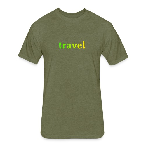 travel - Fitted Cotton/Poly T-Shirt by Next Level