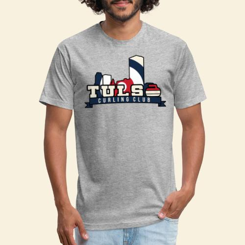 Tulsa Skyline - Fitted Cotton/Poly T-Shirt by Next Level