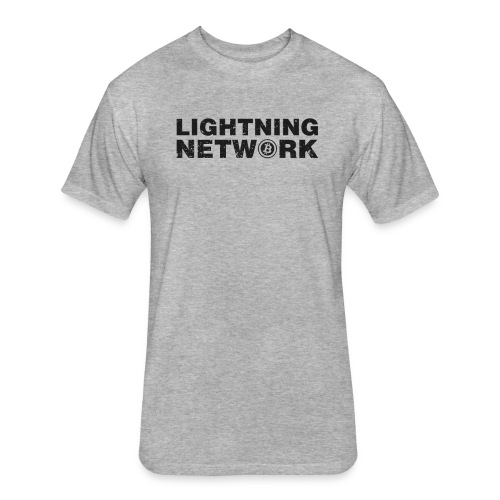 Lightning Network Bitcoin Tshirt - Fitted Cotton/Poly T-Shirt by Next Level