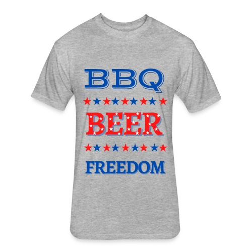 BBQ BEER FREEDOM - Fitted Cotton/Poly T-Shirt by Next Level
