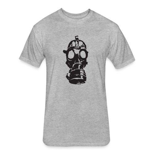 Gas Mask (Mello Jr.) - Fitted Cotton/Poly T-Shirt by Next Level