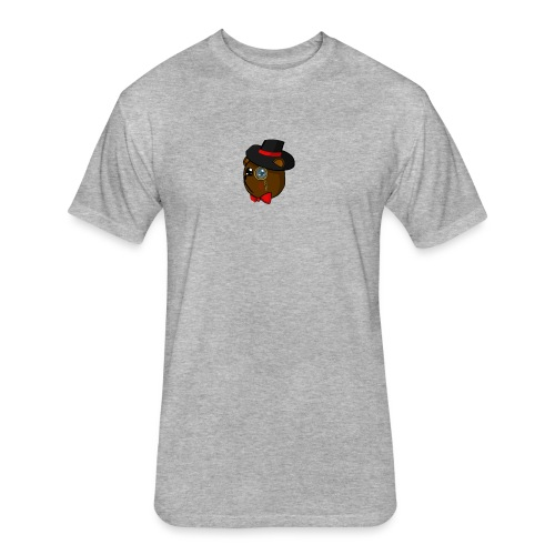 Bears in tophats - Fitted Cotton/Poly T-Shirt by Next Level