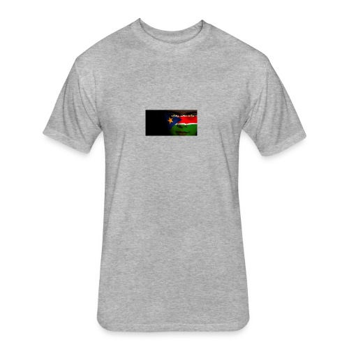 south sudan flag - Fitted Cotton/Poly T-Shirt by Next Level