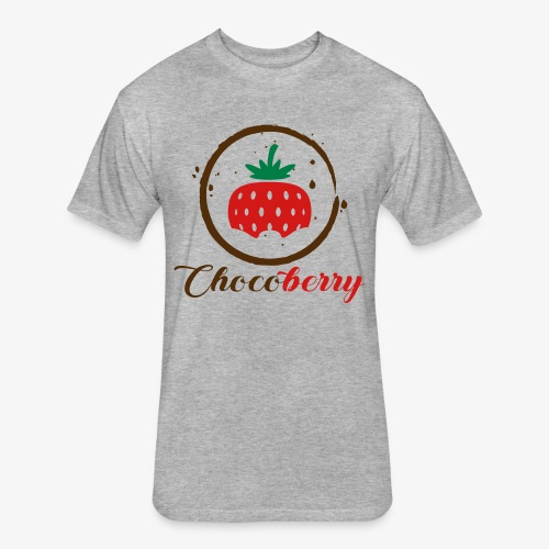 Chocoberry - Fitted Cotton/Poly T-Shirt by Next Level