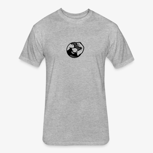 Black and Grey Performance - Fitted Cotton/Poly T-Shirt by Next Level