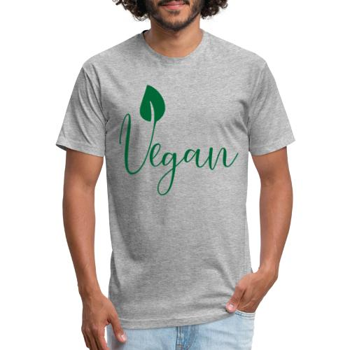 Vegan - Fitted Cotton/Poly T-Shirt by Next Level