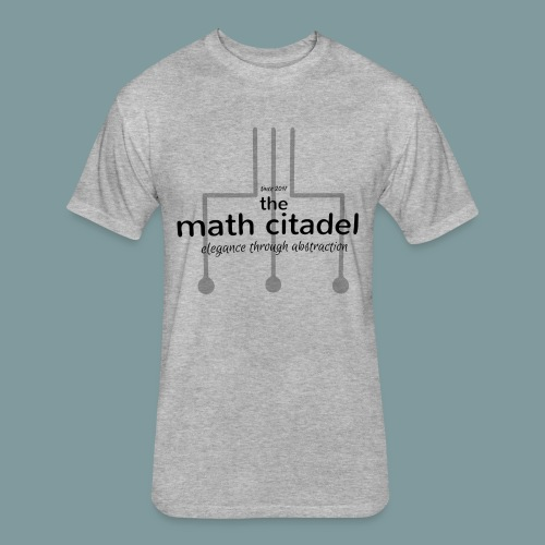 Abstract Math Citadel - Fitted Cotton/Poly T-Shirt by Next Level