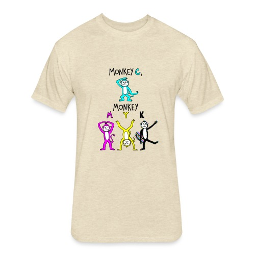 monkey see myk - Fitted Cotton/Poly T-Shirt by Next Level