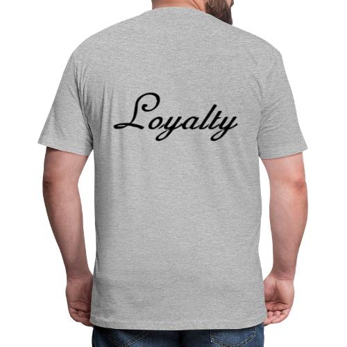 Loyalty Brand Items - Black Color - Fitted Cotton/Poly T-Shirt by Next Level