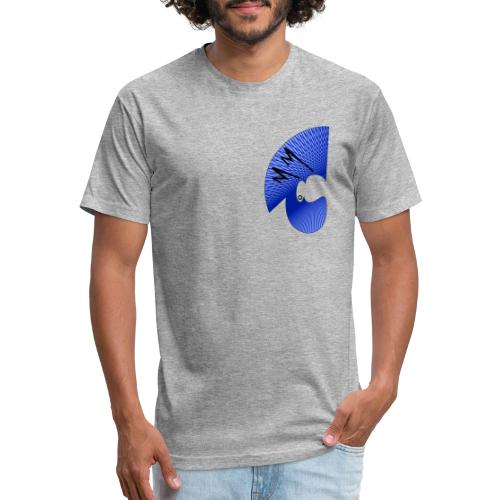 Matty Mohawk Logo Front & Back - Fitted Cotton/Poly T-Shirt by Next Level
