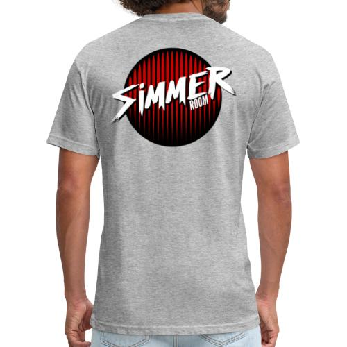 Simmer Room - Red Drip - Fitted Cotton/Poly T-Shirt by Next Level
