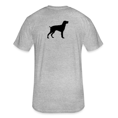 German Wirehaired Pointer - Fitted Cotton/Poly T-Shirt by Next Level