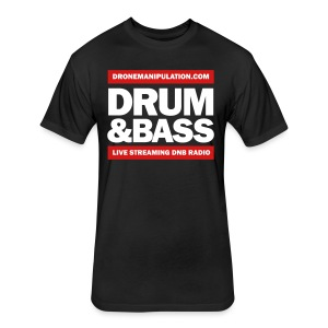 Drum and Bass - Fitted Cotton/Poly T-Shirt by Next Level