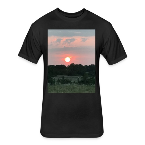 Nature Sunset - Fitted Cotton/Poly T-Shirt by Next Level