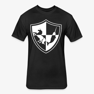 Unicorn & Narwhal Sheild - Fitted Cotton/Poly T-Shirt by Next Level
