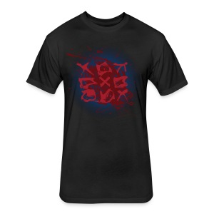 Tic Tac Toe - Fitted Cotton/Poly T-Shirt by Next Level