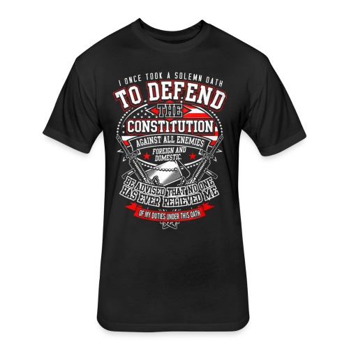 Veteran T-Shirt For Mens Veteran T-Shirt - Fitted Cotton/Poly T-Shirt by Next Level