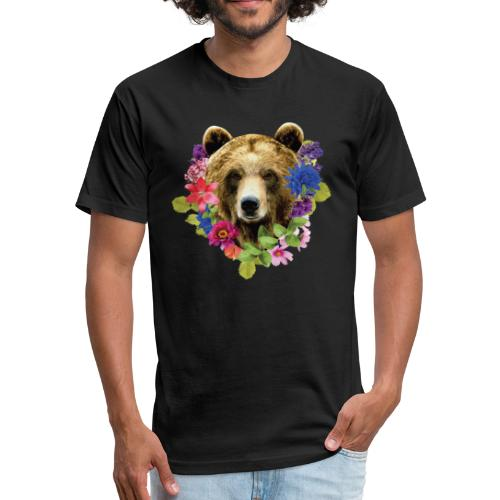 bearrFlowers - Fitted Cotton/Poly T-Shirt by Next Level