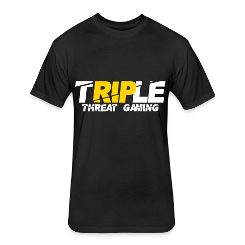 Triple Threat Gaming - Fitted Cotton/Poly T-Shirt by Next Level
