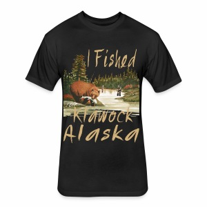 Klawock, Alaska - Fitted Cotton/Poly T-Shirt by Next Level