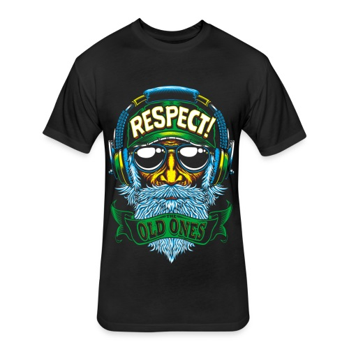 RESPECT - Fitted Cotton/Poly T-Shirt by Next Level