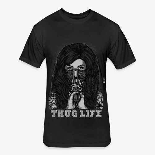 Thug Life T-shirt - Fitted Cotton/Poly T-Shirt by Next Level