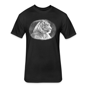 Tiger Sketch - Fitted Cotton/Poly T-Shirt by Next Level
