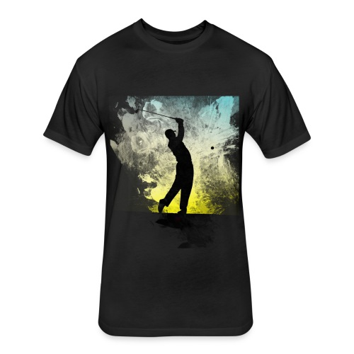 Golf Geek Time - Fitted Cotton/Poly T-Shirt by Next Level