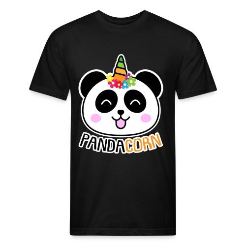 Pandacorn Panda Unicorn Tshirt - Fitted Cotton/Poly T-Shirt by Next Level