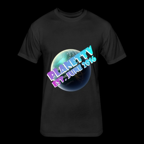 PlanetTV - Fitted Cotton/Poly T-Shirt by Next Level