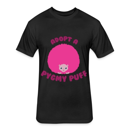 Adopt a Pygmy Puff Logo - Fitted Cotton/Poly T-Shirt by Next Level