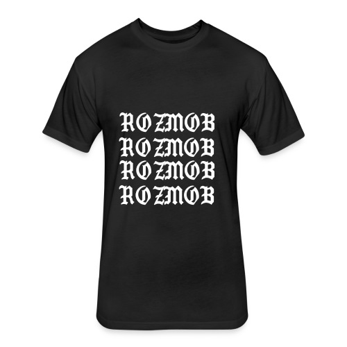 ROZMOB DESIGNER TYPE - Fitted Cotton/Poly T-Shirt by Next Level